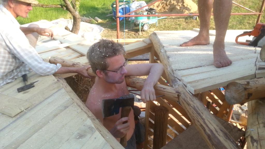 Nageln am reziproken Dach